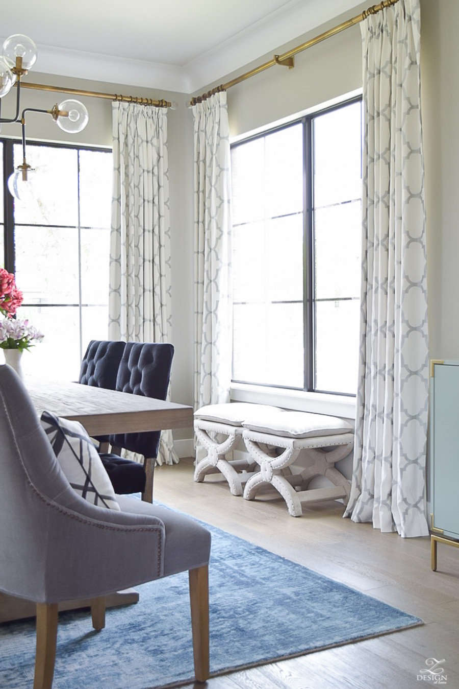 Windsor Smith Riad Fan Pleated Drapes (shown in Ivory)