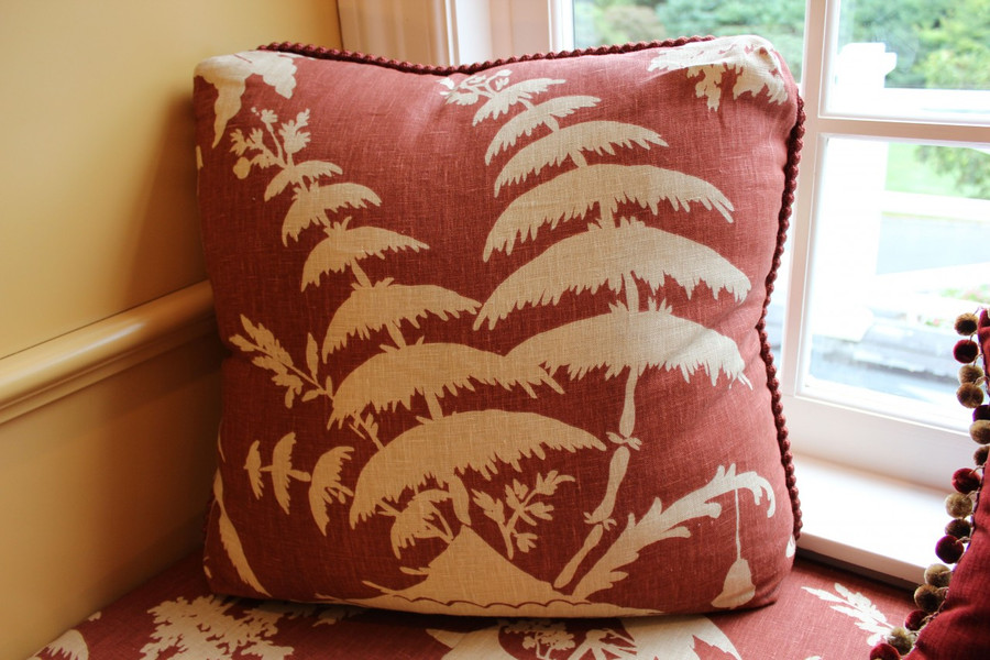 Cushion and Pillow in Barbara Barry Indo Night-Lantern, Cording on edge is Barbara Barry T30500-9