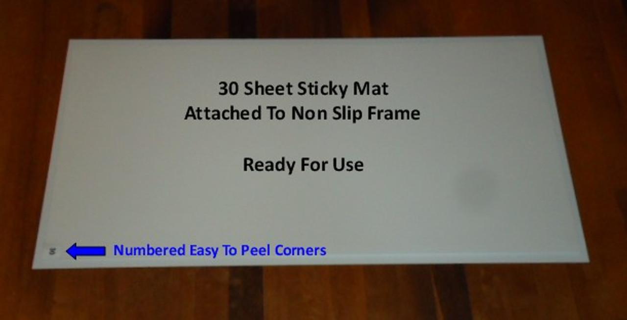 Non Slip Sticky Mat Frames used alongside 24 inch x 36 inch Mats