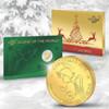 Gold Christmas Coin - 10 Francs 2016 Republic of Rwanda
