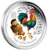 YEAR OF THE ROOSTER - Color Series II 2017 1 oz Silver Coin - Perth Mint