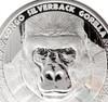 2016 1oz .999 Silver Congo Silverback Gorilla Prooflike Coin 5000 Francs