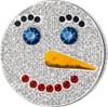 SNOWWOMAN Heart Melting 3 Coin Set Christmas Silver Proof Coin 2016 head