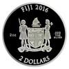 CAPTAIN AMERICA SHIELD - 75TH ANN.- 2016 2 oz Proof Silver Domed Coin - Fiji