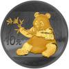 GOLDEN ENIGMA –10 Y Panda Silver 24 K Gold Black Ruthenium China 2017