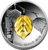BIRCH LEAF Handcrafted Bohemian Glass - Four Seasons Silver Coins 1000 Fr 2017