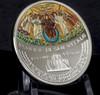 BASILICA SAN VITALE Mosaic Convex 1 Oz Silver Coin 5$ Cook Islands 2017 S