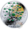TREE OF LUCK Malachite 1 Oz Silver Coin 1$ Niue 2017