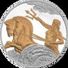 POSEIDON 4x 1oz Silver Coin Set Tokelau 2017 gilded