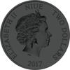 NIUE- 2017 1 oz Silver Coin - Color & Ruthenium