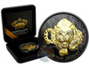 AFRICAN LEOPARD - Gold Black Empire 1 oz Silver Coin - 2017 Ghana