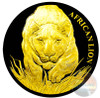 AFRICAN LION - Gold Black Empire 1 oz Silver Coin - 2017 Chad