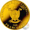 MADONNA DEL MAGNIFICAT Ave Maria Silver Coin 500 Francs Cameroon 2017