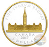 PARLIAMENT BUILDING - effigy of King George VI  Renewed Silver Dollar Coin 2017  Canada