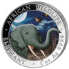 2018 ELEPHANT- African Wildlife Night  1 oz Color Silver Coin - 100 Shillings Somalia
