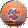 DIAMOND SUNSET Zirconia Silver Coin 10$ Fiji 2012