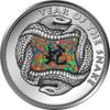 Gilson-Opal Gemstone Snake 2013 $10 Fiji 1 oz Silver