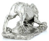 BERNINI's LION of the Four Rivers – 8 oz Silver 3D STATUE with Serial Number