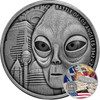 BATTLE OF LOS ANGELES UFO 1 Oz Silver Coin 1000 Francs Burkina Faso 2017