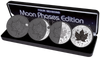 """MAPLE LEAF """"Moon Phases"""" 4 Seasons SILVER COINS SET CANADA  4"""