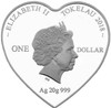Bride & Groom 2018 Heart Shaped Silver Tokelau Coins