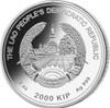 PIG Jade Lunar Year 2 Oz Silver Coin 2000 Kip Lao Laos 2019