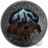 NATURE'S LIGHT SHOW - STORMY NIGHT – $50 5+ oz Proof Silver Coin 2018