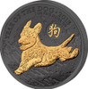 YEAR OF THE DOG Golden Enigma 1 oz Silver Coin 2018
