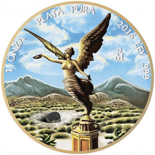 Ounce of Space- Allende- 1oz Silver & Gold Pl Coin - Libertad Mexico 2016