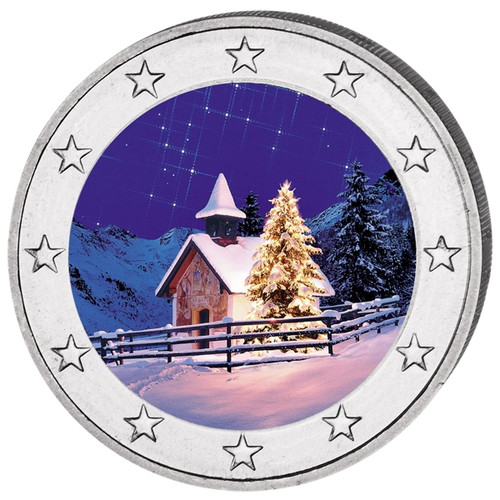 2 Euro Christmas - Winter Colored Coin 2016
