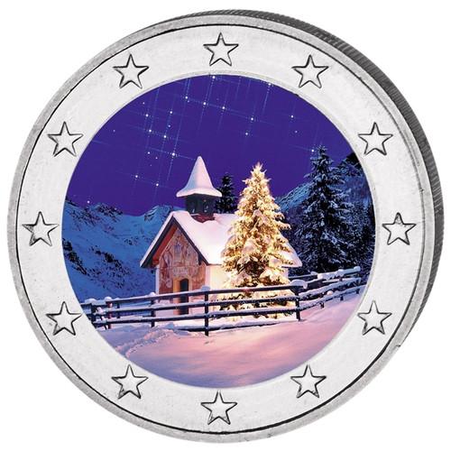 2 Euro Christmas - Winter Colored Coin 2016