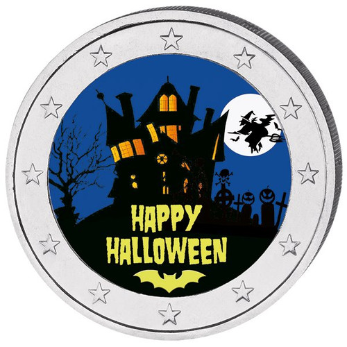 2 Euro Halloween Colored Coin