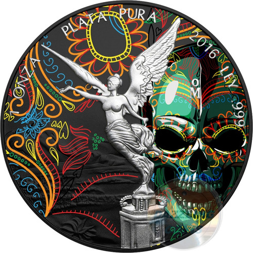 HALLOWEEN Mexican Libertad 1 Oz Silver Coin Mexico 2016 rev
