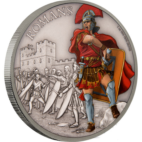 ROMANS - WARRIORS OF HISTORY 2017 1 oz Silver Coin - Niue