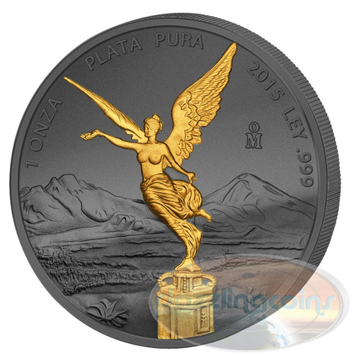 Golden Enigma - Libertad- 1 oz Silver & Ruthenium & Gold Plated Coin
