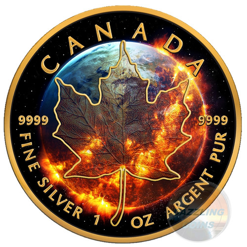 APOCALYPSE Maple Leaf 1 Oz Silver Coin 5$ Canada 2016