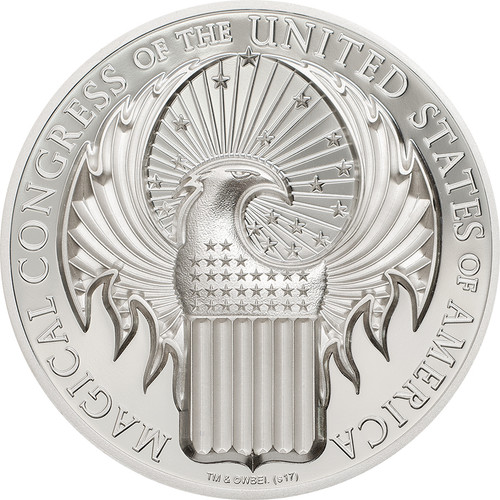 2017 FANTASTIC BEASTS - Magical Congress-HARRY POTTER MACUSA 1 oz SILVER COIN