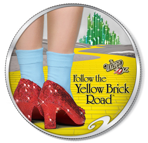 RUBY SLIPPERS - DOROTHY Wizard of OF Oz 2017 1 oz Pure Silver Coin