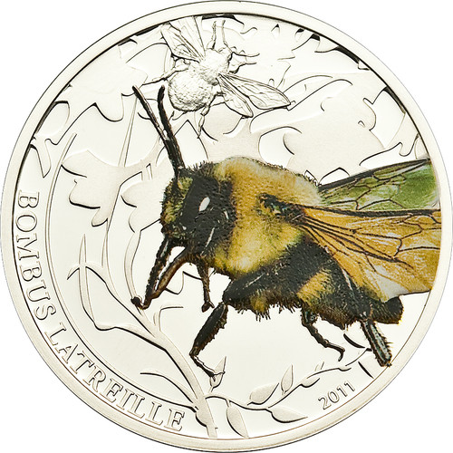 Bombus (Bummble Bee) - $2 Palau 2011 Silver Proof Coin