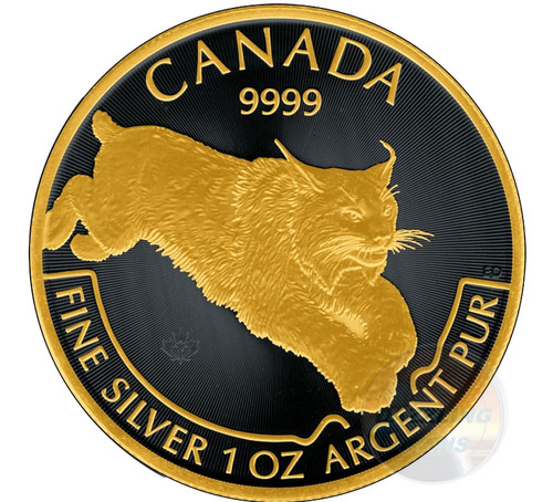 LYNX Predator Series 1 oz Gold Black Empire coin $5 2017 Canada