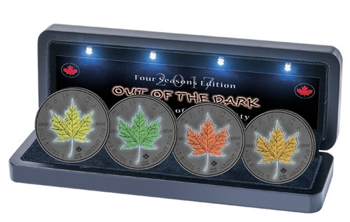 MAPLE LEAF Out of Dark - 4 Seasons Silver Coins set Canada 2017