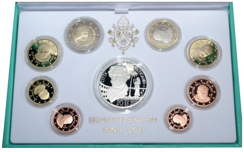 PONTIFICATE OF BENEDICT XVI EURO COINS PROOF VERSION