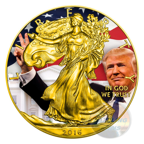 TRUMP Donald President Walking Liberty 1 Oz Silver Coin 1$ US Mint 2016