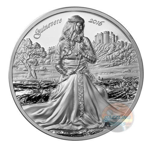 LADY GUINEVERE - THE LEGENDS OF CAMELOT - 2016 2 oz Ultra High Relief