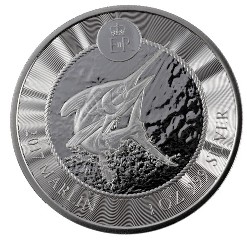 BLUE MARLIN 1 oz .999 Fine Silver Coin Cayman Islands 2017