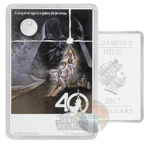 STAR WARS - 40TH ANNIVERSARY - 1 oz Pure Silver Coin 2017
