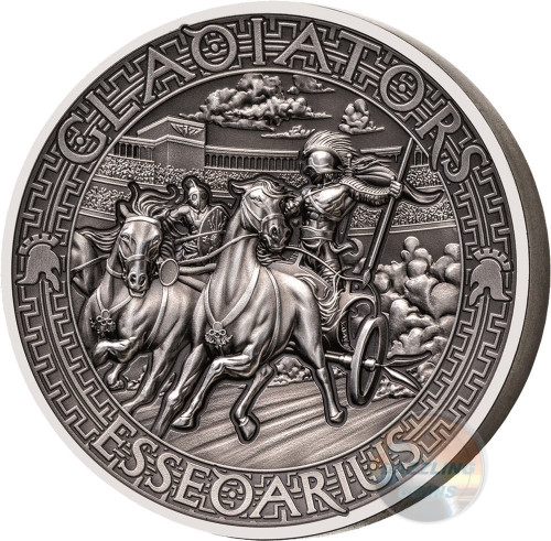 ESSEDARIUS Gladiators 2 Oz High Relief Silver Coin