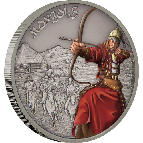 MONGOLS - WARRIORS OF HISTORY - 2017 1 oz Fine Silver Coin - Niue