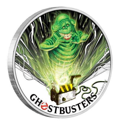 GHOSTBUSTERS SLIMER 1 Oz Silver Coin 1$ Tuvalu 2017