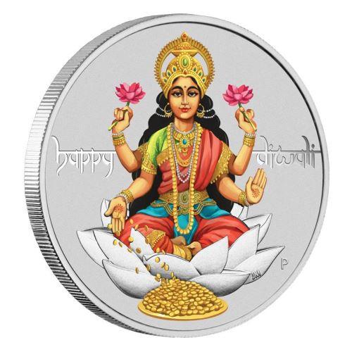 DIWALI FESTIVAL 1 oz. Silver Proof Coin 1$ Tuvalu 2017